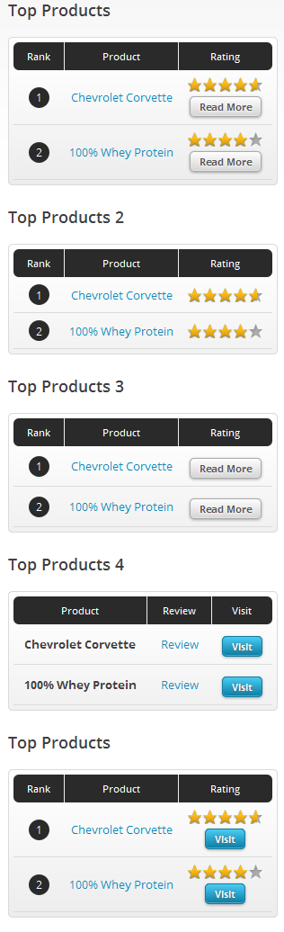products listings widget